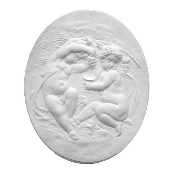 """Bas-relief 1008 """"Angelots vignerons"""""""