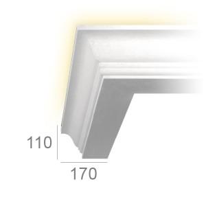 Corniche lumineuse 124