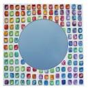 ref 1100 Coloful plaster mirror