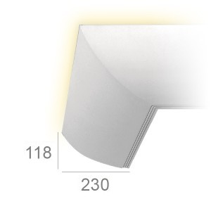 Lighting cornice 404