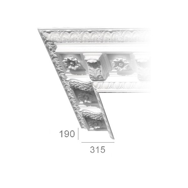 Ceiling cornice 202