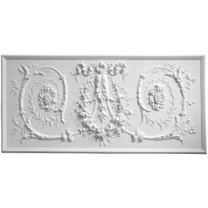 """Bas-relief 1014 """"Couronne aux rinceaux"""""""