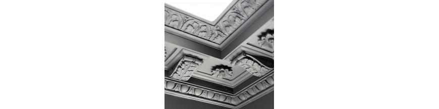 Corniche de plafond en plâtre ornementée de style, louis XV, Louis ...